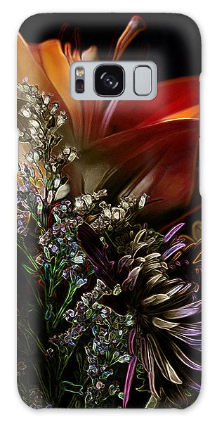 Flowers 2 Galaxy Case by Stuart Turnbull