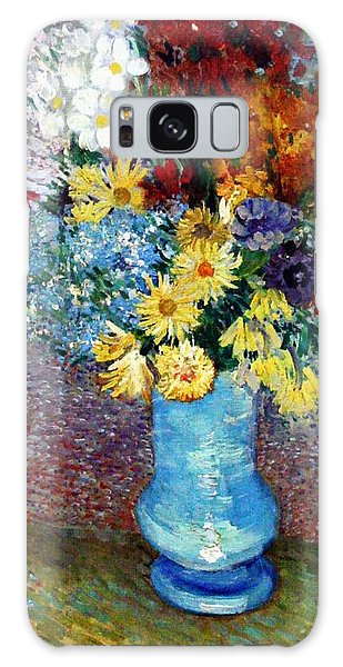 Galaxy Case featuring the painting Flowers In A Blue Vase  by Van Gogh