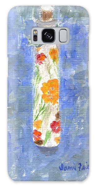 Galaxy Case featuring the painting Flowers In A Bottle by Jamie Frier