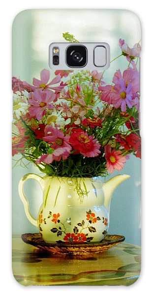 Flowers In A Teapot Galaxy Case by Patricia Greer