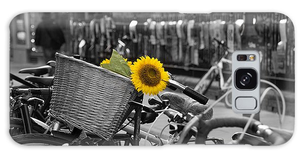 Flowers In Bike Galaxy Case by David Warrington