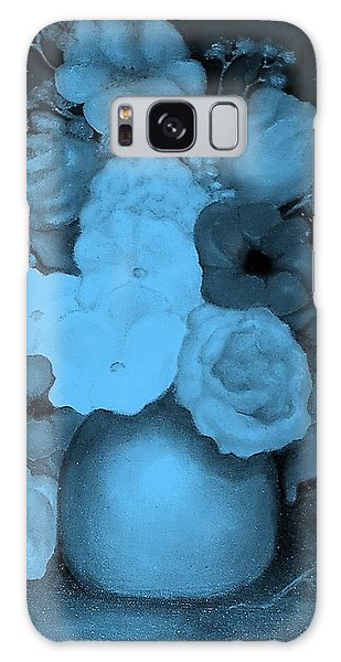 Flowers In Blue Galaxy Case