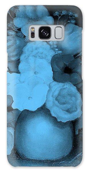 Flowers In Blue Galaxy Case