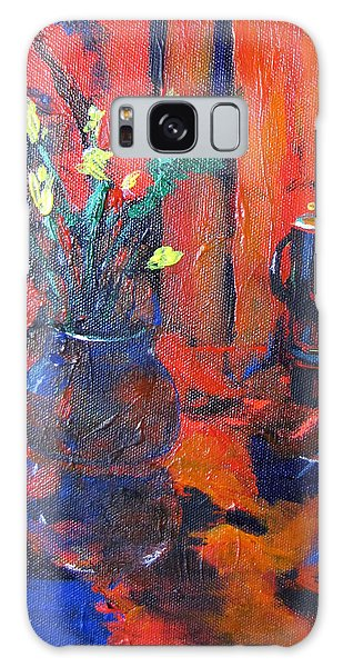 Flowers In Blue Vase Galaxy Case by Gary Smith