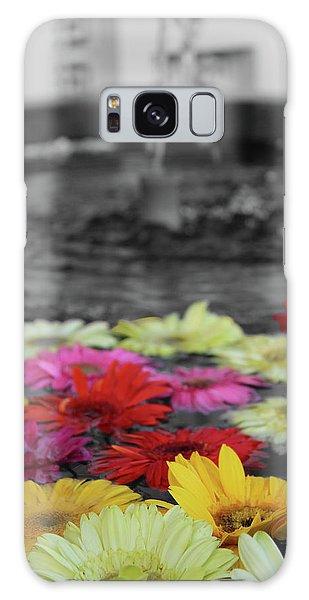 Flowers In Fountain Galaxy Case