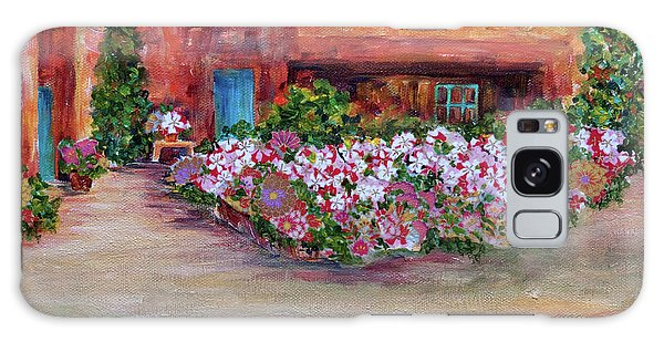 Flowers In Front Of Adobe Galaxy Case