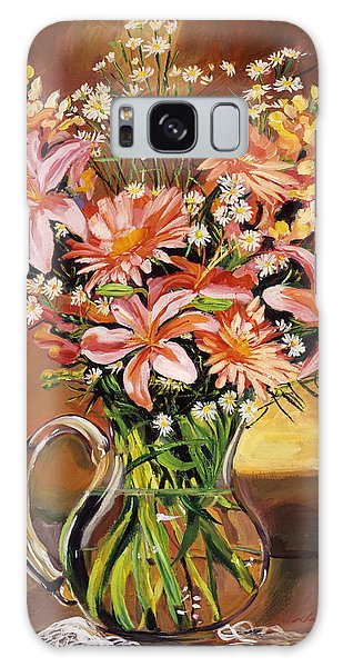 Flowers In Glass Galaxy Case