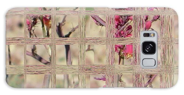 Flowers In Glass Galaxy Case by Lenore Senior