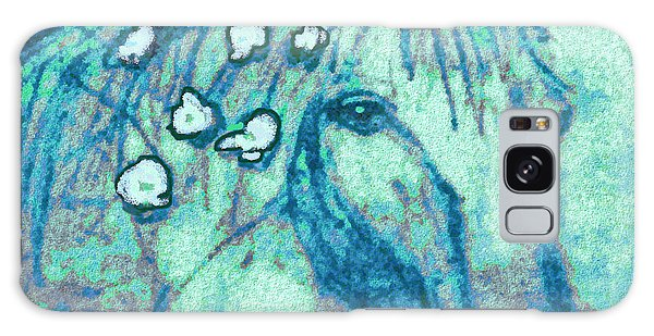Flowers In Her Hair Galaxy Case by Holly Martinson