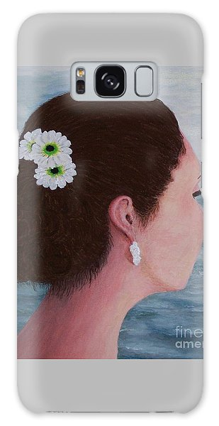 Flowers In Her Hair Galaxy Case by Judy Kirouac