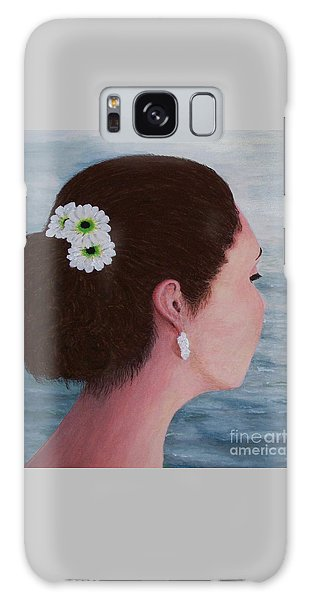 Flowers In Her Hair Galaxy Case