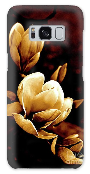 Flowers In Sepia  Galaxy Case