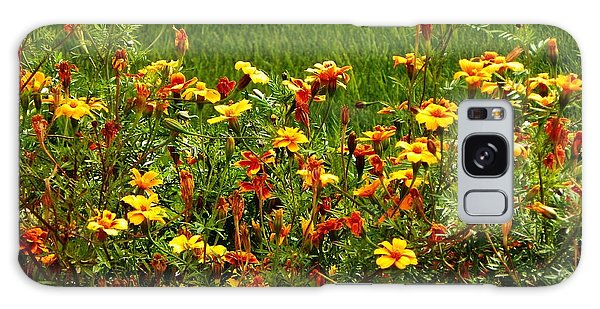Flowers In The Fields Galaxy Case