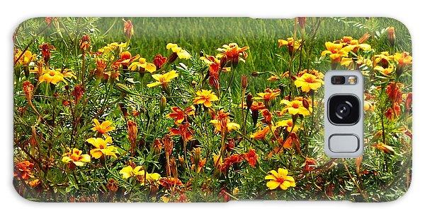 Flowers In The Fields Galaxy Case by Joseph Frank Baraba