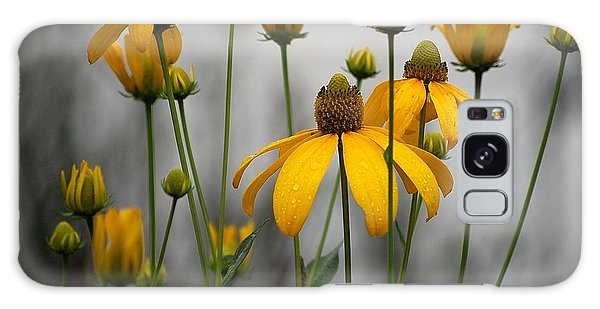 Flowers In The Rain Galaxy Case