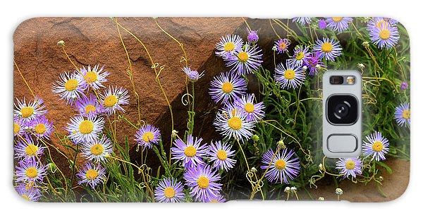 Flowers In The Rocks Galaxy Case by Darren White