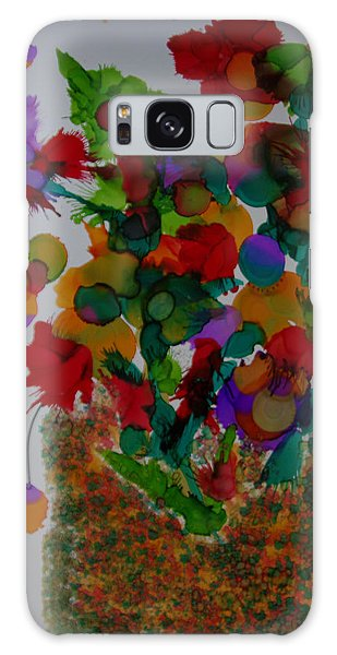 Flowers In The Vase # 63 Galaxy Case