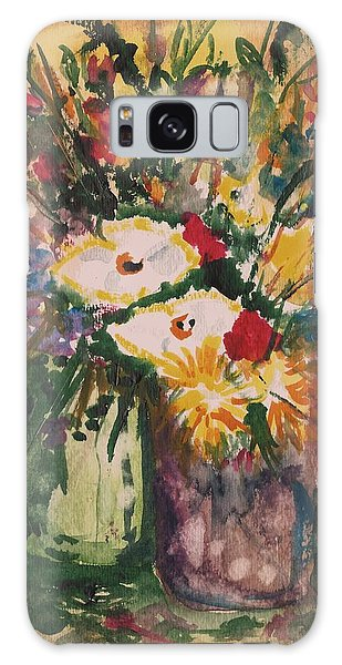 Flowers In Vases Galaxy Case