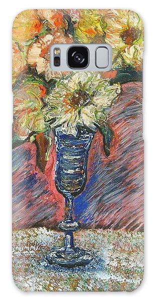 Flowers In Wine Glass Galaxy Case