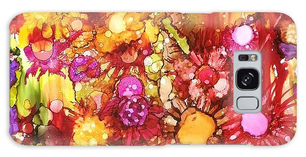Flowers In Yellow And Pink Galaxy Case