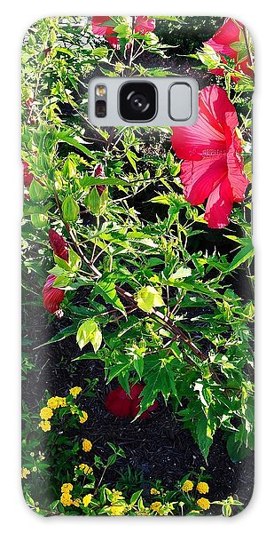 Flowers Of Bethany Beach - Hibiscus And Black-eyed Susams Galaxy Case