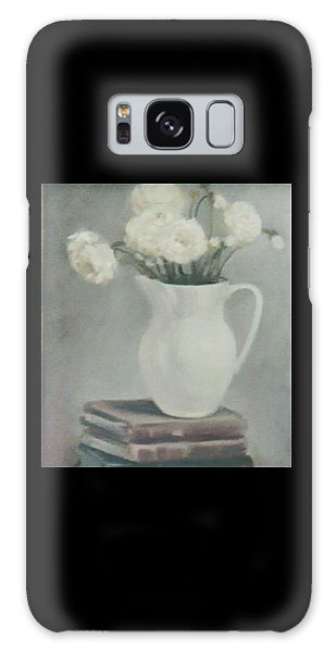 Flowers On Old Books Galaxy Case