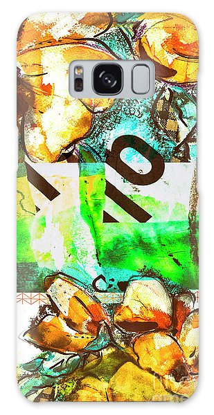 Flowers On Paper,  Collage And Acrylic Galaxy Case