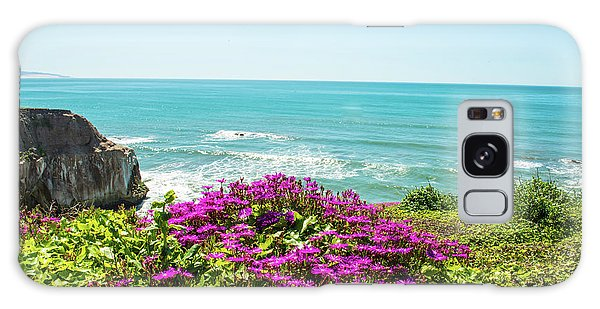 Flowers On The Cliff Galaxy Case