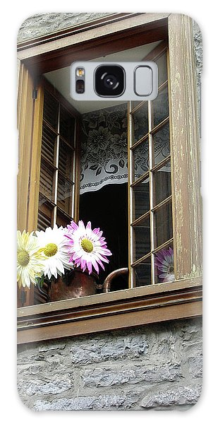 Galaxy Case featuring the photograph Flowers On The Sill by John Schneider