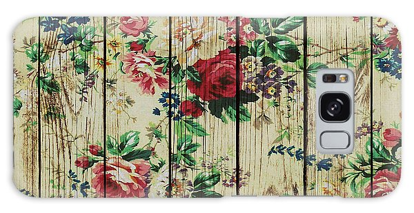 Flowers On Wood 01 Galaxy Case