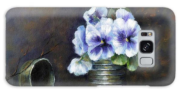 Flowers,pansies Still Life Galaxy Case