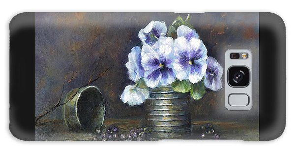 Flowers,pansies Still Life Galaxy Case by Luczay