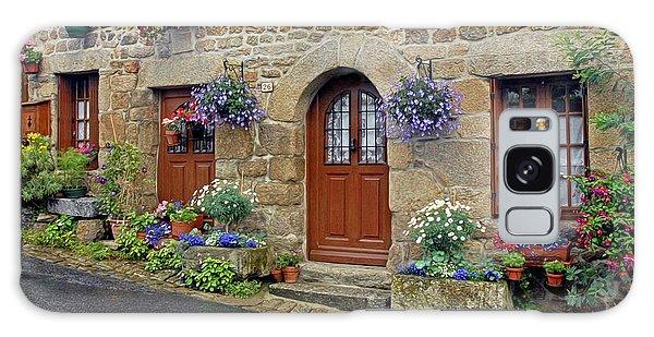 Flowery Doorways In Brittany Galaxy Case by Dave Mills