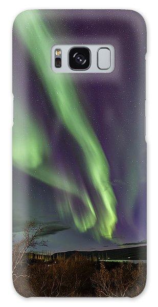 Flowing Aurora Galaxy Case