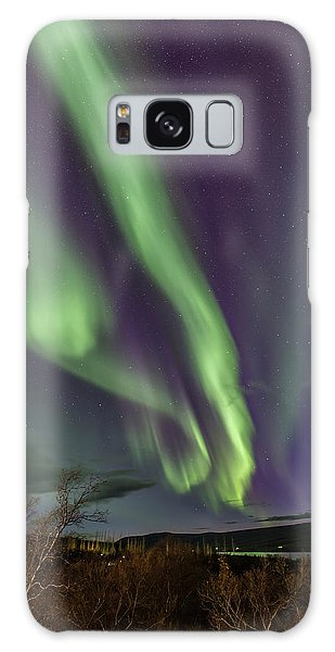 Flowing Aurora Galaxy Case