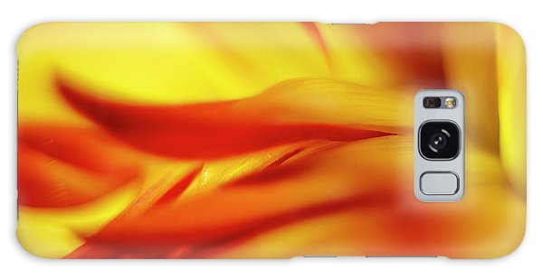 Flowing Floral Fire Galaxy Case