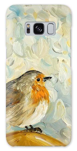 Fluffy Bird In Snow Galaxy Case