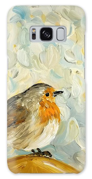 Fluffy Bird In Snow Galaxy Case