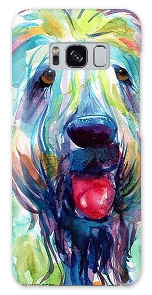 Galaxy Case - Fluffy Wheaten Terrier Portrait By by Svetlana Novikova