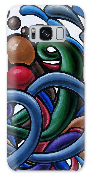 Colorful Abstract Art Painting Chromatic Water Artwork Galaxy Case