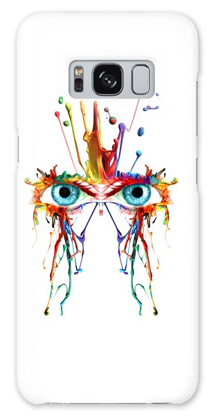 Fluid Abstract Eyes Galaxy Case
