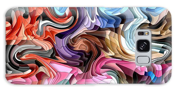 Galaxy Case featuring the digital art Fluidity by Shelli Fitzpatrick