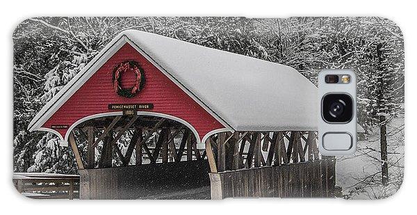 Flume Covered Bridge In Winter Galaxy Case