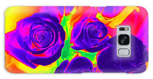 Fluorescent Roses Galaxy Case