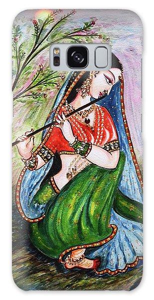 Flute Playing In - Krishna Devotion  Galaxy Case