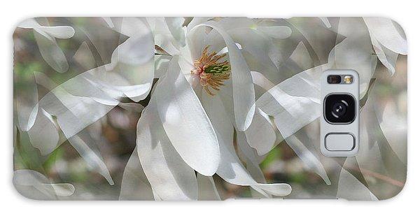 Fluttering Magnolia Petals Galaxy Case