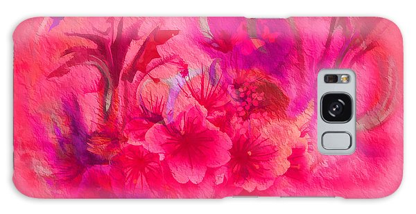 Flower Art Pinky Pink  Galaxy Case by Sherri's Of Palm Springs