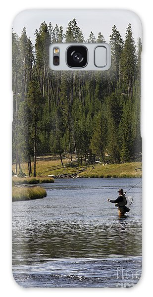 Fly Fishing In The Firehole River Yellowstone Galaxy Case