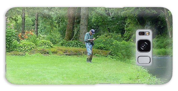 Fly Fishing On Trout Run Creek Galaxy Case