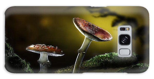 Fly Mushroom - Red Autumn Colors Galaxy Case by Dirk Ercken